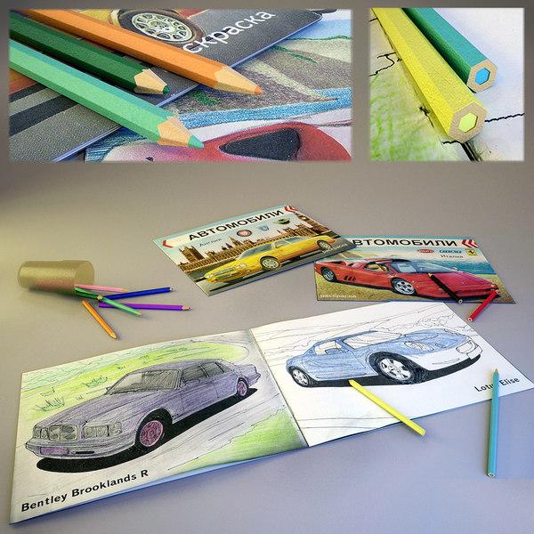- 3D Coloring Book Pencils Children S - TurboSquid 1395080