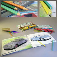 3D coloring book pencils children s
