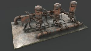 rusted industrial 3D model