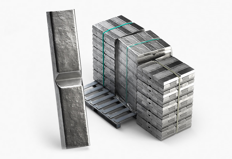 ingots aluminium zinc nickel 3D model