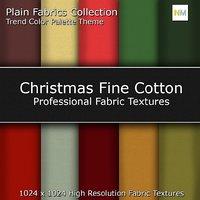 Christmas Fine Cotton Color Palette Seamless Fabric Textures