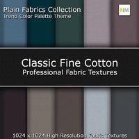 Classic Fine Cotton Color Palette Seamless Fabric Textures