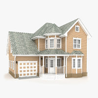 3D two-story cottage 61 model