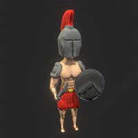 3D spartan sword shield model