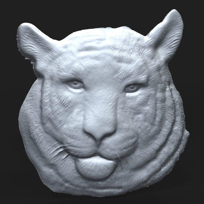 tiger relief 3D model