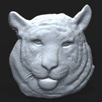 Siberian Tiger Head relief