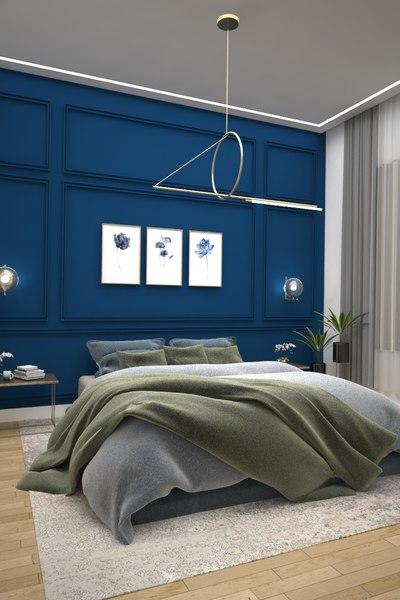 bedroom bed room 3D