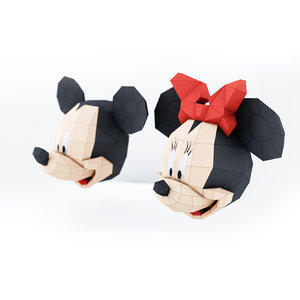heads minnie mickey 3D model