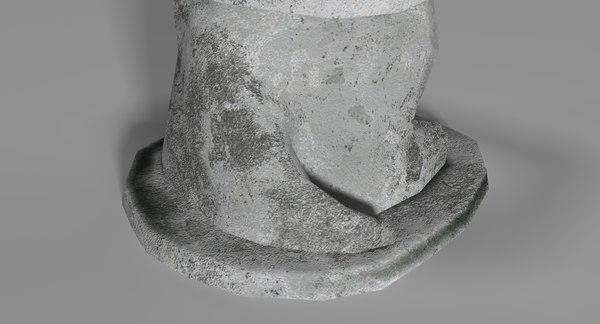 3D statue crocodile gena model