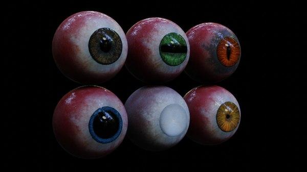 3D model realistic eyes