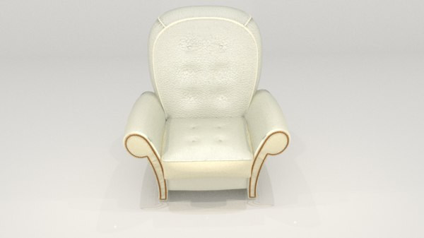 3D white leader sofa model