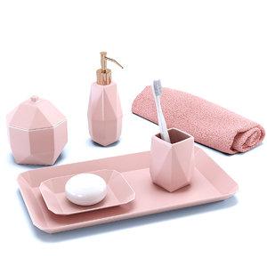 bath accessories porcelain faceted model