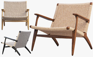 ch25 lounge chair 4 3D