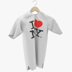 3D t-shirt shirt hanger