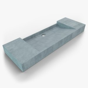 concrete sink 3D model