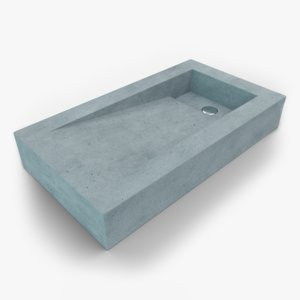 3D concrete sink model