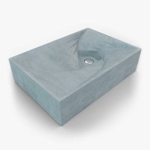 3D concrete sink
