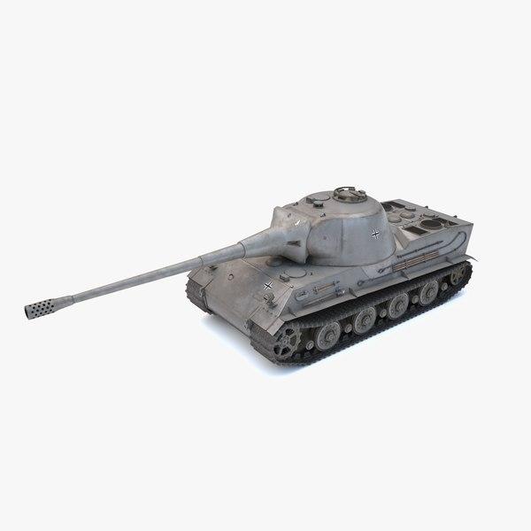 3D low-poly tank lowe model