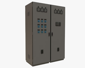 electric control cabinet 3D model