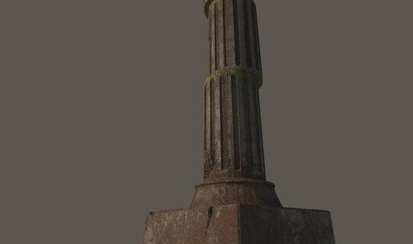 greek pillar 3D model