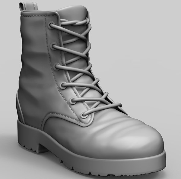 3D zbrush army boots model