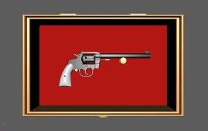 3D model pistol gun revolver