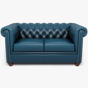 blender sofa leather model