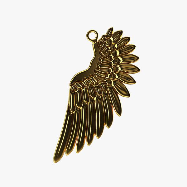 3D model wing pendant