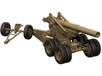 3D model m1 m115 howitzer