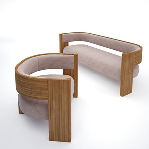 sitting area 3D model