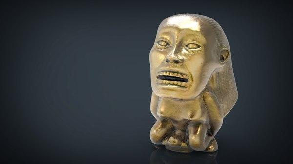 3D fertility idol indiana jones