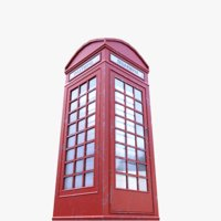 3D telephone box phone model