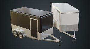 3D cargo trailer 1a model