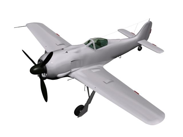 3D model fw 190 focke-wulf