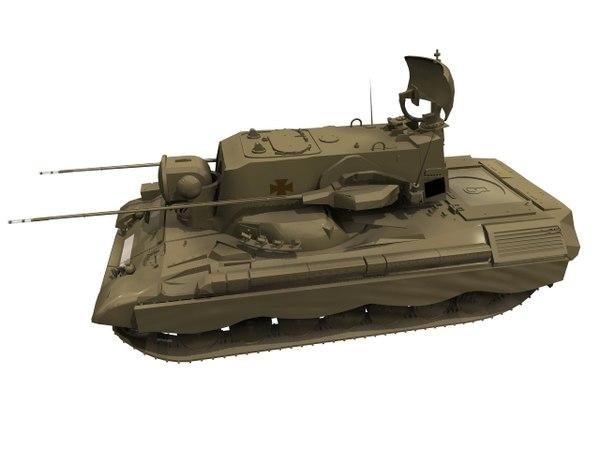 3D flakpanzer gepard