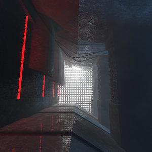 concepts brutalist architecture interior 3D model