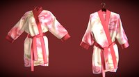 silk bath robe