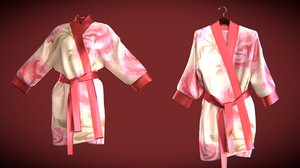 3D silk bath robe model