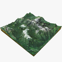 usa mountains 3D