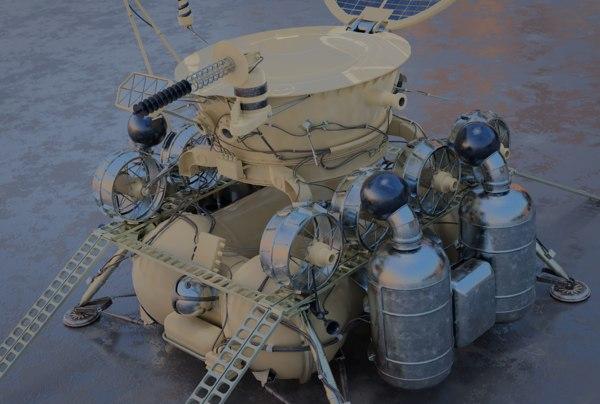 3D luna 17 model
