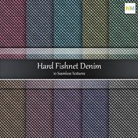 Denim Hard Fishnet Seamless Fabric Textures