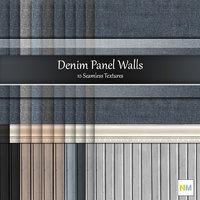 Denim Panel Wall Seamless Textures