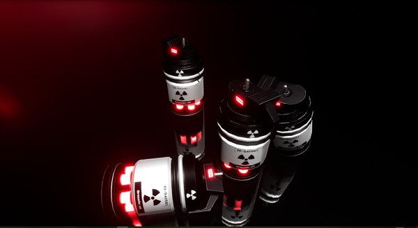 3D sci fi grenade model