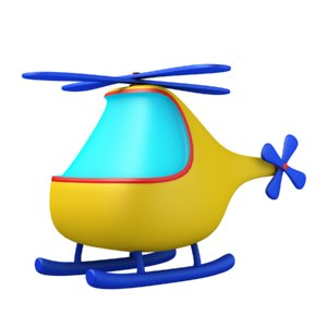 3D cartoon helicopter