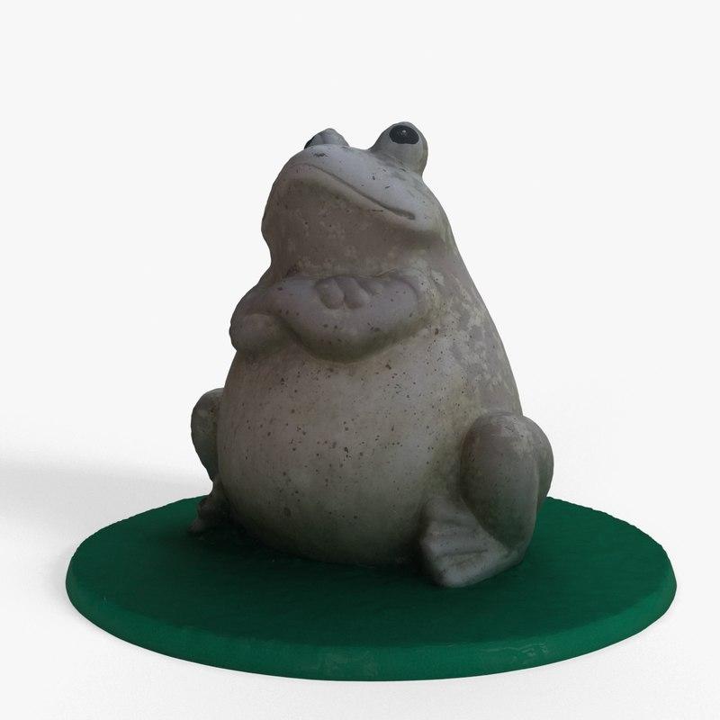 stone statue frog model