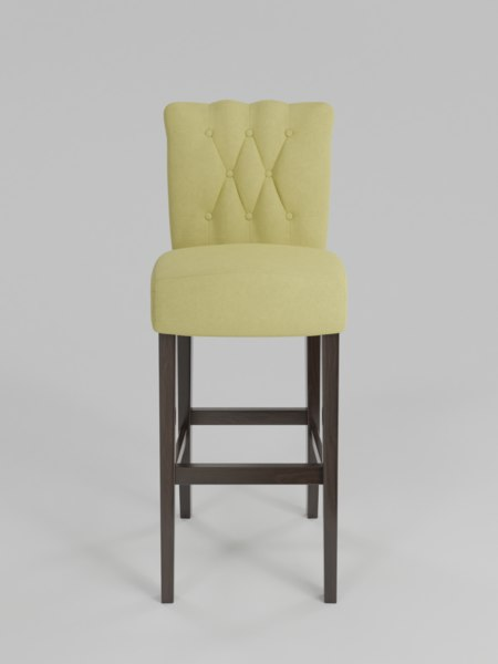 chair armelle tufted bar stool 3D model