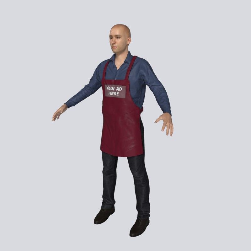 person character human model