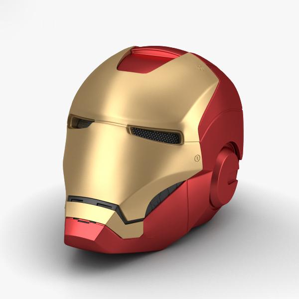 3D iron man helmet model