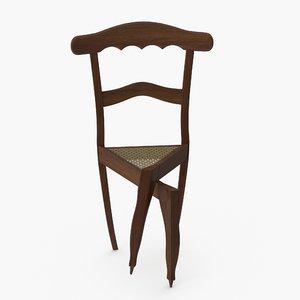 legs crossed chair model
