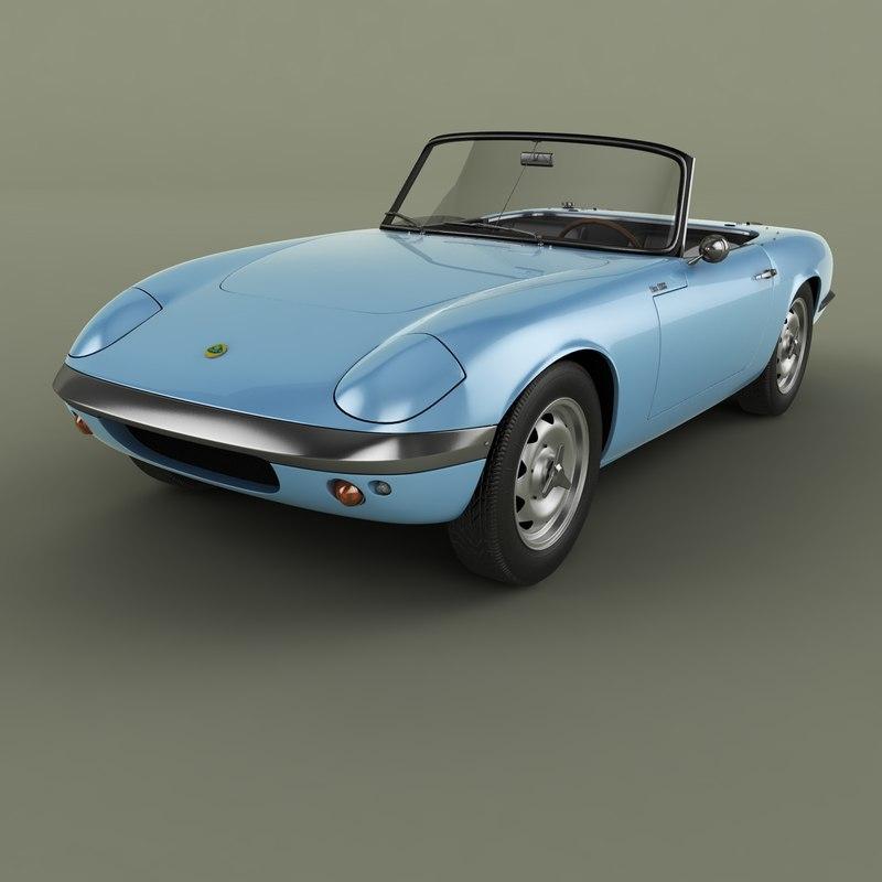 3D 1962 elan s1 model